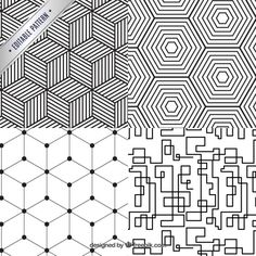 Geometrical Pattern Collection Premium Vector