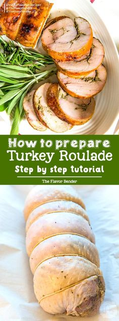 Learn how to make a Turkey Roulade - Step by step instruction on how to prepare turkey breast into a boneless roulade that is perfect for Thanksgiving! Turkey Recipes, Pork Recipes, Cooking Recipes, Savoury Recipes, Cooking Games, Cooking Classes, Recipies, Thanksgiving Recipes, Holiday Recipes