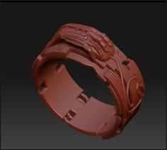 Computer Ring - CAD/CAM Jewelry Design & 3D Modeling Services - http://www.3dwaxcarving.com/
