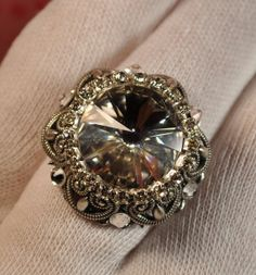Hey, I found this really awesome Etsy listing at https://www.etsy.com/listing/177509253/swarovski-ring-vintage-ring-victorian