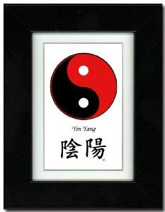5x7 Black Satin Frame with Yin Yang (Red/Black) with Mat and Calligraphy by Oriental Design Gallery. $31.95. Place on Wall or Desk. Each print is mounted on acid-free mat board by using acid free adhesive. Made in USA. Frame is made of eco-friendly composite wood materials. Easel and hangers included. Wall Hangers must be installed by customer. Instructions included. This is a Yin Yang Print with traditional Chinese Calligraphy. These prints are created by using the ...