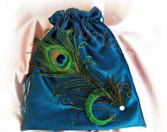 Peacock dollar dance bag