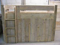 Halfhoogslaper Kastruimte steigerhout (1290200163HHMK)
