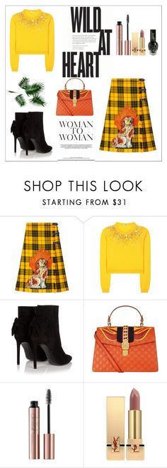 """""""It's All About YOU x"""" by xpinkplaymatex ❤ liked on Polyvore featuring Gucci, Miu Miu, Yves Saint Laurent and Hot Topic"""