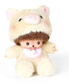 Take a look at this Pig Bebichhichi Plush Toy by Monchhichi on #zulily today!