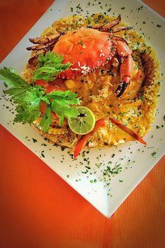 El plato favorito por comensales del Señor Pesca'o es el Tacu Tacu relleno de Mariscos.
