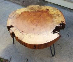 Clearance! Pecan Round Coffee Table by LuttrellDesigns on Etsy