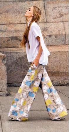 Florals Wide Pants