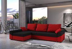 Rohová rozkládací sedačka VIVIANA   Expedo.cz Outdoor Sectional, Sectional Sofa, Couch, Outdoor Furniture, Outdoor Decor, Form, Home Decor, Products, Closet Storage