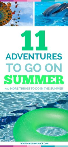 "Here's a list of 11 adventures for you and your kids to go on this summer. Put these 101 activities on your summer bucket list and it will prevent your kids from being bored, and let them create memories that will last all the way to the first day of school when they're asked: ""What did you do this summer?"""