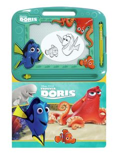 Ecrire et dessiner - Trouver Doris - 1 tableau magnétique effacable, 1 stylo magnétique et 1 livre de 22 pages. -  Age : 3 ans et plus -  Référence : 11099 #Jeux #jouets #Enfant #Cadeau #Voyage #Vacances #famille