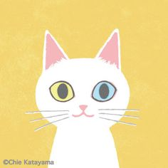 Cats works - Chie Katayama Illustration Cat Character, Cat Crafts, Cat Drawing, Cool Cats, Big Cats, Cute Illustration, Cat Art, Cute Wallpapers, Cat Lovers