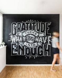 Right now, your enough could look like paying your bills or owning a house, but what then? We live in a world… Hand Lettering 101, Hand Lettering Tutorial, Creative Lettering, Lettering Design, Chalk Typography, Chalkboard Lettering, Typography Letters, Chalkboard Ideas, Different Lettering