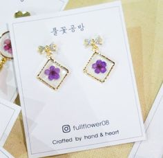 REAL Flower Earrings-Pressed Bridal Wreath-Great for Dates/Gifts/etc . .  etsy.me/2Iy5Fb4 .  #jewelry #earrings #purple #silver #girls #floral #earlobe #flowers#flowerearrings #etsy #driedflowers #pressedflowers #gift #giftsforwomen #handmade #handcrafted . .
