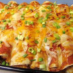 CHICKEN ENCHILADAS...dinner tonight looks quick and easy