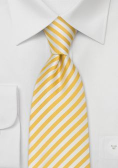 The perfect Yellow & White striped tie by Parsley. $30