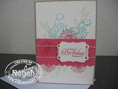 Stampin' Up! Decorative Label punch, Simply Sketched stamp set, Flower Shop stamp set