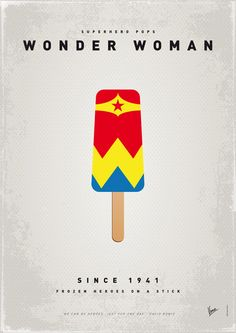 My SUPERHERO ICE POP - Wonder Woman  by Chungkong