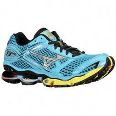 b3fe5523e924 Mizuno Wave Creation 13 - Women's - Running - Shoes - Cyber Yellow/Indigo  Blue