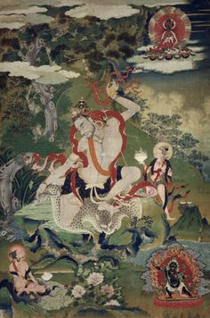 """#Buddhism · The Life of the Mahasiddha Tilopa — by Marpa Chokyi Lodro. This is one example of the state of enlightenment depicted within art that was to be achieved within the teachings of Buddha. Also known as """"the siddhi of perfection""""."""