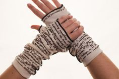 These literary gloves. I <3 them. So hard. | 28 Literary Accessories All Book Lovers Must Have via BuzzFeed #giftideas #reader
