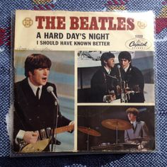 THE BEATLES Picture Sleeve 45   Hard Day's Night / I Should Have Known Better  RARE vinyl record  Rare record 45 rpm 0073