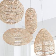 Boho Lighting, Basket Lighting, Pendant Lighting, Lighting Ideas, Beach House Lighting, Coastal Lighting, Dining Lighting, Rattan Pendant Light, Rattan Light Fixture