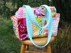 DYO Patchwork XL Ultimate Diaper Bag with Zippered Top Closure Sewing For Kids, Baby Sewing, Best Diaper Bag, Diaper Bags, Patchwork Bags, Baby Crafts, Dyi Crafts, Bag Storage, Bag Making