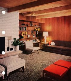 The concept of Modern Interior Design Living Room – Love at Decoration Retro Living Rooms, Living Room Modern, Mid Century Modern Interiors, Mid Century Furniture, Modern Interior Design, Mid Century Modern Living Room, Interior Design, Modern Interior, Living Decor