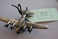 Aviation Themed Wedding - airplane wedding favor.  Evergreen Aviation & Space Museum. McMinnville, OR.