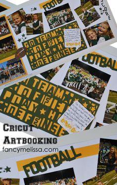 Cheerleading Layout using CTMH's Cricut Artbooking Cartridge www.fancymelissa.com #football #ctmh #doublelayout #scrapbook