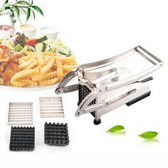 Stainless Steel Potato Cutter Strip Cutting French Fries Chips Slicer Chopper  Machine Kitchen Accessories