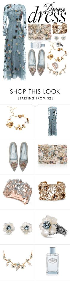 """""""Flora 2"""" by lily-mitchell ❤ liked on Polyvore featuring Twigs & Honey, Valentino, Chiara Ferragni, Accessorize, Effy Jewelry, Marchesa, Stephen Dweck and Prada"""