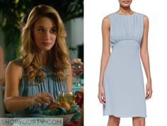Jane the Virgin: Season 1 Episode 15 Petra's Blue Shirred Dress