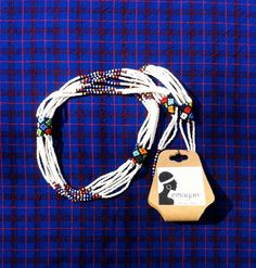 emayan on Etsy. Maasai Women's Necklace