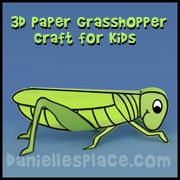 grasshopper paper craft for home school from www.daniellesplace.com