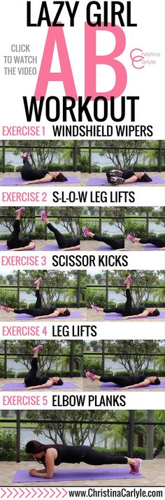 Lazy Girl Ab Workout