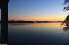 A southerly view at sunset from Glen Foerd's boathouse at the Delaware River.