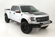 FORD RAPTOR....I want one sooo bad! Except black with black rims and a lift. :)