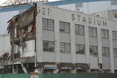 MI, Detroit, Tiger Stadium - previously known as Navin Field and Briggs Stadium, was a baseball park located in the Corktown neighborhood. It hosted the Detroit Tigers Major League Baseball team from 1912–1999. Demolition was completed on September 21, 2009.