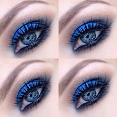 Cobalt blue eyeshadow can create a piercing & sultry look.