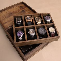 New Personalized Rustic Men's Watch Box for 8 by OurWeddingInvites http://www.thesterlingsilver.com/product/emporio-armani-beta-mens-quartz-watch-with-black-dial-and-gold-stainless-steel-bracelet-ar1893/