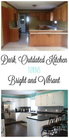 Our foreclosure home was an eye sore on every level. The kitchen was dark and outdated, but not for long! After some very budget friendly updates, it is bright and cheery and a true staple of the home!