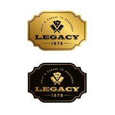 Legacy 1878 -  New logo design for an upscale, boutique meat and cheese shop based in Illinois, US, selling fine cuts of meat, serving cheese and charcuterie boards, deli sandwiches, soups, etc.