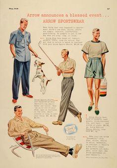 1930's Arrow Shirt Advertisement, My Ear-Trumpet Has Been Struck By Lightning