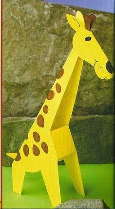 Cantinho Alternativo: Girafa de papel para trabalhar a letra G