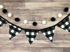 Check out our black white buffalo plaid selection for the very best in unique or custom, handmade pieces from our shops. White Baby Showers, Plaid Decor, Baby Shower Fall, Boy Shower, Wood Bead Garland, Black And White Baby, Tray Decor, Buffalo Plaid, Classroom Decor