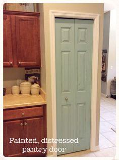 Ideas Kitchen Pantry Makeover Paint For 2019 Bi Fold Pantry Doors, Kitchen Pantry Doors, Dark Kitchen Cabinets, Kitchen Organization Pantry, Pantry Makeover, Door Makeover, Kitchen Colors, Kitchen Layout, Kitchen Ideas