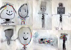les petites têtes de l'art: Détournements d'objets