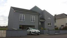 Elegant Fassade Grau Weiss